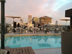 Los Angeles + hotel rooftop =