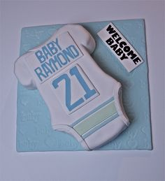 Baby Shower Cake for Baby Raymond {of the Vancouver Canucks}