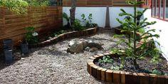 Garten gestalten mit kreativer Rasenkante und Beetumrandung - fresHouse