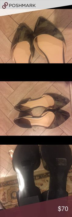 Banana Republic Aiden D'Orsay Camo hair flats Camo hair pointed tip flats. New without box. Banana Republic Shoes Flats & Loafers