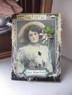 Vintage-style Card for Mom Victorian Mom Card by AvantCarde