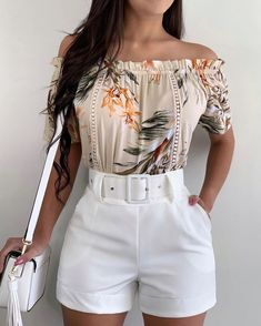 Summer Fashion Outfits, Girly Outfits, Cute Casual Outfits, Short Outfits, Stylish Outfits, Look Fashion, Girl Fashion, Latest African Fashion Dresses, Mode Chic