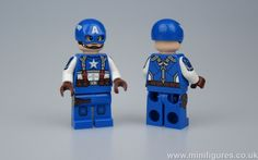 This Original Super Soldier Custom Minifigure is a high quality pad printed minifigure by Phoenix Customs. He is professional pad printing on front head, front legs, front and back torso, and both arm Lego Soldiers, Super Soldier, Collectible Cards, Plastic Injection Molding, Lego Marvel, Legos, The Originals, Toys, Mini