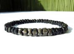Black Horn Nuggets Oxidized Hill Tribe Silver by Bracelets For Men, Beaded Bracelets, Silver Beads, Horns, Diy Jewelry, Brass, Gemstones, Sterling Silver, Pearl Bracelets