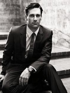 Style and brains, Don Draper via actor Jon Hamm.