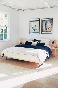 DMDM designer Doug McCollough's craftsmanship infuses warmth and character into modernist forms. This queen-sized Eden bed comes straight from his Los Angeles studio. The bed of choice at The Apartment by The Line – Los Angeles, the handmade piece has a birch plywood frame with linoleum paneling, a maple headboard, and attached linoleum-topped side tables.