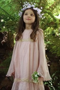 Pink Chiffon Angel Dress. 2-3 years - 9-10 years. Perfect for flower girls, wedding guests and parties, this full sleeved dress is truly unique.