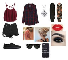 """""""Skater"""" by salome234-1 ❤ liked on Polyvore featuring Rails, Vans, Smashbox and Ray-Ban"""