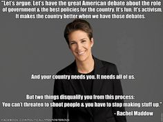 OMG, I SO agree with Rachel Maddow on this that I could cry.