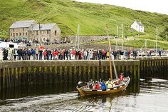 Hebridean sgoth arriving at Lybster | Scotland