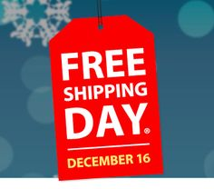 Over 500 Online Retailers Participating in FREE Shipping Day – 12/16/2016