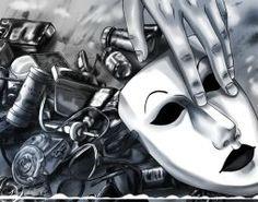 Fan Bloody by Ashiva-K-I on DeviantArt Creepypasta Ticci Toby, Creepypasta Proxy, Spooky Scary, Creepy Art, Nurse Ann, Slenderman Proxy, Creepy Pasta Family, Eyeless Jack, Laughing Jack