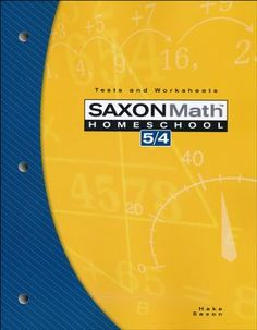 Saxon Math 5/4 Tests and Worksheets, 3rd Edition    -  $16.99. This is all I need, I have the rest of the package.