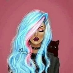 Imagen de cat, black, and art