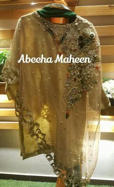 Zardozi Embroidery, Embroidery Dress, Stylish Dresses For Girls, Girls Dresses, Designer Wear, Designer Dresses, Pakistani Dresses Party, Pakistani Fashion Casual, Kurti Patterns