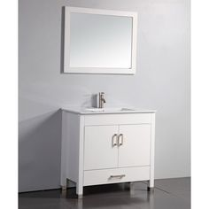 Have to have it. Legion Furniture WA3636W 36-in. Single Bathroom Vanity Set - White - $668.6 @hayneedle