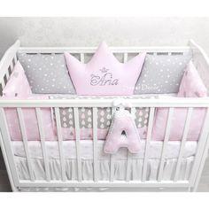 Фотографии Sweet Decor - бортики, мобили, ткани Baby Crib Bedding, Baby Pillows, Baby Bedroom, Baby Room Decor, Baby Cribs, Nursery Room, Girl Nursery, Girl Room, Baby Bumper