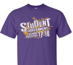 High School Impressions SC-025-w; Custom Student Council T Shirts, - Create your own design for t-shirts, hoodies, sweatshirts. Choose your Text, Ink and Garment Colors