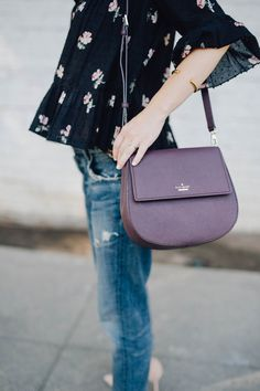 pre-fall style with @aliciamlund, featuring the kate spade new york byrdie crossbody.