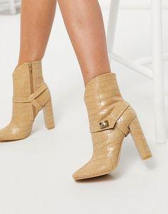 Asos, Nude Boots, Beige, Block Heels, Safari, Bootie Boots, Latest Trends, Neutral, Glamour