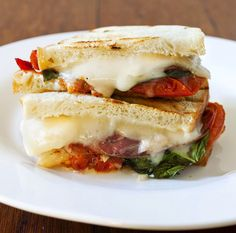 Coppa & Manchego Cheese Sandwich with Roasted Tomatoes.