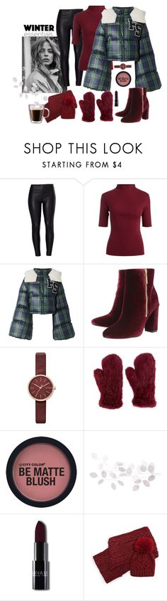 """""""cold red"""" by nabilanabnis on Polyvore featuring Venus, Puma, Ravel, Skagen, Yves Salomon, A by Amara and Frontgate"""