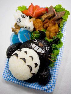 totoro bento, studio ghibli food