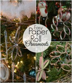 Easy Paper Roll Ornaments!