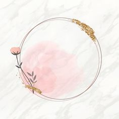 Blooming round floral frame vector | premium image by rawpixel.com / marinemynt Flower Background Wallpaper, Logo Background, Flower Backgrounds, Logo Floral, Flower Logo, Instagram Background, Instagram Frame, Flower Canvas, Flower Frame