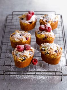 raspberry, lemon and almond friands...  Friand is a small French Cake commonly found in New Zealand and Australia