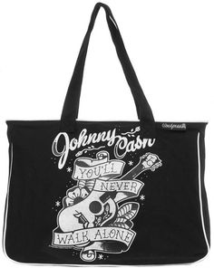 Inked Boutique - Johnny Cash Tote Bag Tattoo Inspoired Art Rockabilly http://www.inkedboutique.com