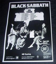 Black Sabbath Heaven And Hell German Tour 1980 Repro Concert Poster | eBay