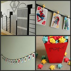 Super Hero Party - another cute party ...love the activities she came up with!