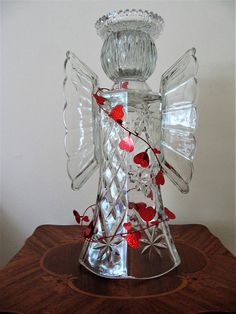 garden art glass angel glass angel angel sculpture upcycled