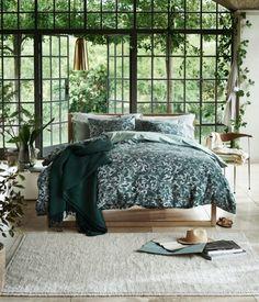 Sengesæt i vasket bomuld - Støvet grøn - Home All Bedroom Green, Home Bedroom, Bedroom Decor, Bedroom Interiors, Home Interior, Interior And Exterior, Interior Design, Gravity Home, Decor Inspiration