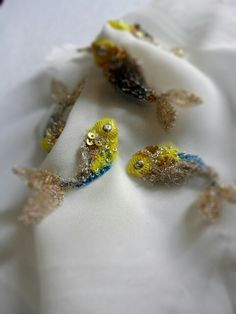 ♒ Enchanting Embroidery ♒ embroidered fish
