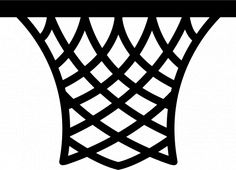 PublicDomainVectors.org-Vector illustration of a basketball net. Black and white drawing of a simple, retro style basketball net.