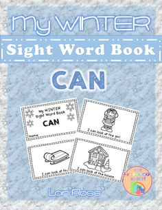 My Winter Sight Word Book: CAN. Practice sight words with this easy reader with a winter theme. Words covered in this reader are: I, can, look, at, the. Pre Primer Sight Words, Winter Words, Easy Reader, Teacher Assistant, Your Teacher, Winter Theme, Job Search, This Book