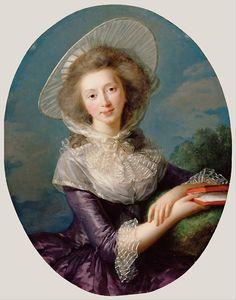 1785 Portrait ofVictoire Pauline de Riquet de Caraman (1764-1834), wife of Jean Louis, Vicomte de Vaudreuil (1763-1816) byLouise Élisabeth Vigée Le Brun(16 April 1755 – 30 March 1842), the most important female painter of the 18th century and court painter to Queen Marie Antoinette.