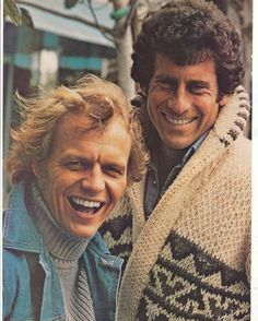 Starsky and Hutch... mum knit me and my brother starsky jackets they were amazing !