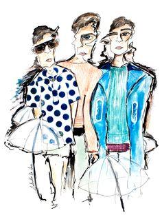 Illustration.Files: Kenzo S/S 2015 Menswear Fashion Illustration by Gabriello De Surr