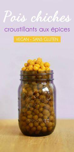 En manque d'idées pour un apéro vegan, sans gluten et super healthy ? Testez les pois chiches croustillants aux épices, à faire au four !  ♥ #epinglercpartager
