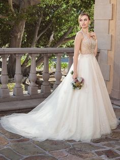 Casablanca bridal style 2316 sable a-line wedding dress with beaded bodice (rose gold Bridal And Formal, Bridal Wedding Dresses, Bridal Style, Bridesmaid Dresses, Casablanca Bridal Gowns, Fantasy Dress, Bride Look, Bridal Boutique, Drop Waist