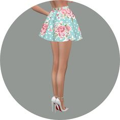 Flare skirt V3 flower at Marigold