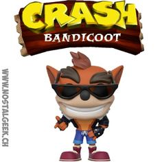 Figurine Funko Pop Games Crash Bandicoot (Biker Outfit) Edition Lim... Funko Pop, Game Crash Bandicoot, Bd Comics, Pop Games, Manga, Bowser, Geek Stuff, Outfit, Fictional Characters