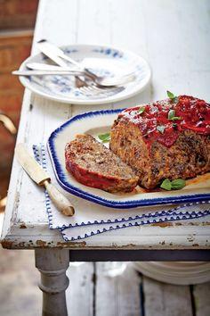 Slow Cooker Tomato-Basil Meatloaf Slow Cooker Meatloaf, Slow Cooker Beef, Slow Cooker Recipes, Crockpot Recipes, Cooking Recipes, Easy Recipes, Amish Recipes, Mexican Recipes, Chicken Recipes