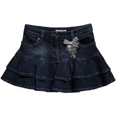 Blue Denim Skirt with Ruffles and Glitter ($75) ❤ liked on Polyvore featuring kids clothing and baby girl
