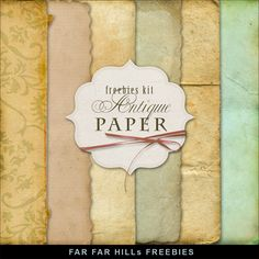 New Freebies Kit of Antique Papers