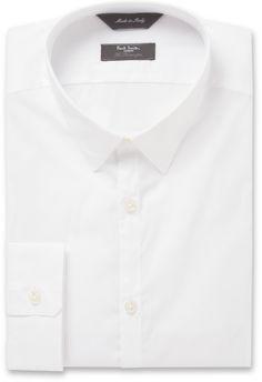 Paul Smith Kensington Slim-Fit Dobby Cotton-Blend Shirt sur shopstyle.fr