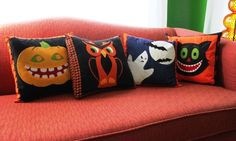 Thinking about doing the owl. . .    http://blog.craftzine.com/archive/2011/10/project_halloween_pillow_cover.html